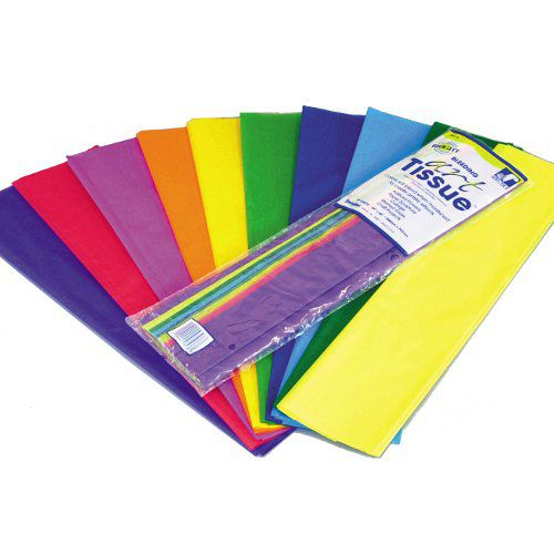 Tissue Paper 508mm x 762mm 20 Sheets - 20 Assorted Colours
