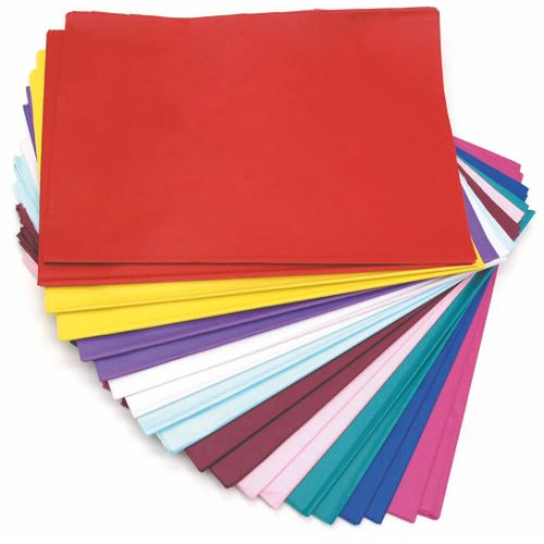 Tissue Paper 508mm x 762mm 480 Sheets - 10 Asstd Colours