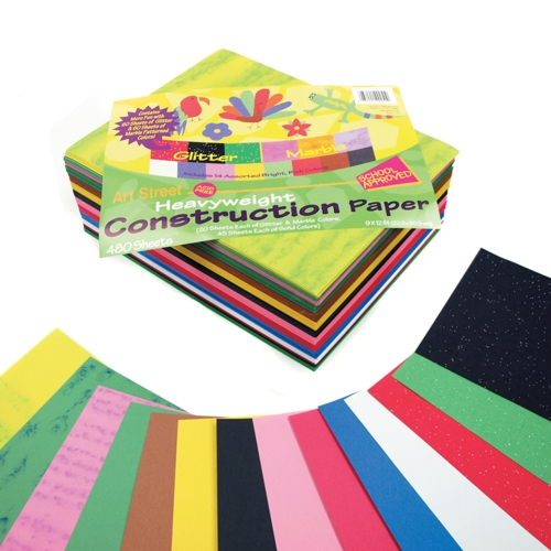 Glitter & Marble Construction Paper