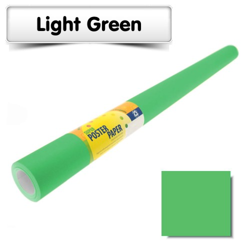 Light Green Poster Paper 10m Roll
