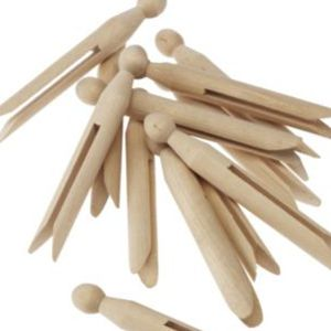Craft Pegs - Plain Pack 24